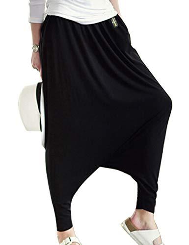Musclealive Mode-Frauen-beiläufige Baggy tief sitzendem Schritt Harem Pants Damen Baumwoll-Polyester und Spandex Farbe...