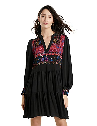 Desigual Womens Vest_SOLSONA Casual Dress, Black, S