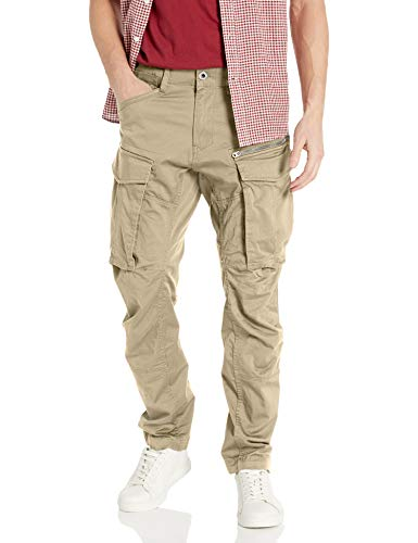 G-STAR RAW Herren Hose Rovic Zip 3D Straight Tapered, Beige (Dune), 36W / 34L