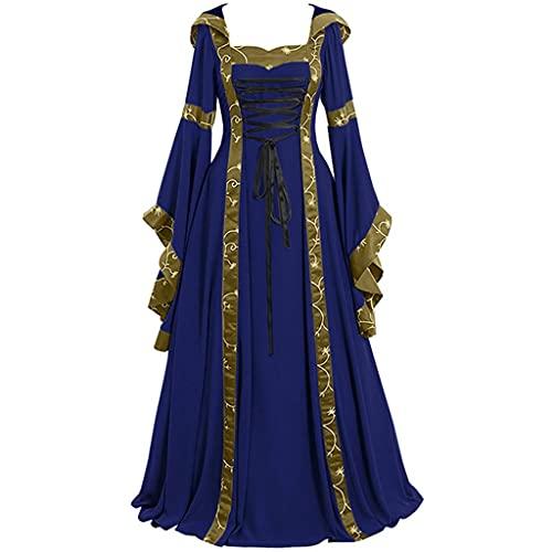 Darringls Halloween Kostüm Damen Mittelalter Kleidung Kleid Spitze Gothic Kleidung Cosplay Punk Stil Kostüm Frau...