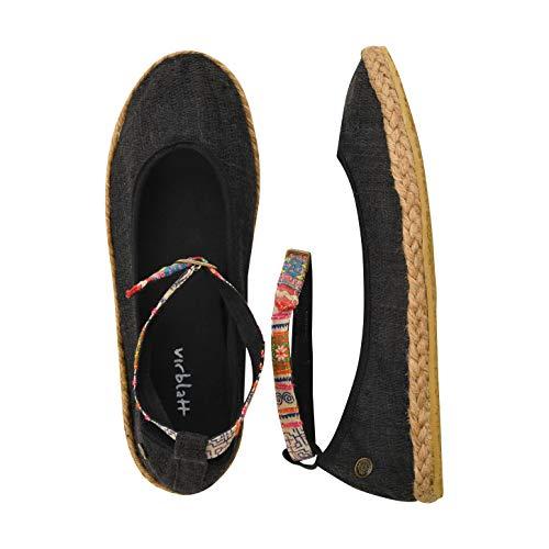 virblatt - Espandrillos Damen | 100% Hanf | Ballerinas Damen Sommerschuhe Damen Hippie Kleidung Damen Hippie Schuhe -...