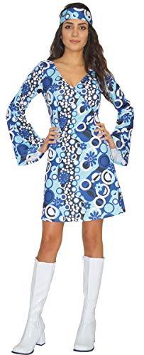 MAYLYNN Hippie Kleid Kostüm Damen Zoe 60er 70er Jahre, Größe S