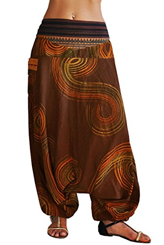 virblatt - Goa Hose | 100% Baumwolle | Damenhose mit Gummizug Yoga Haremshose Damen Aladinhose Hippie Sommerhose Damen -...