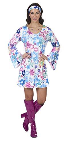 Andrea Moden Hippie Kostüm Lovely für Damen - Weiß Bunt Gr. 40 42