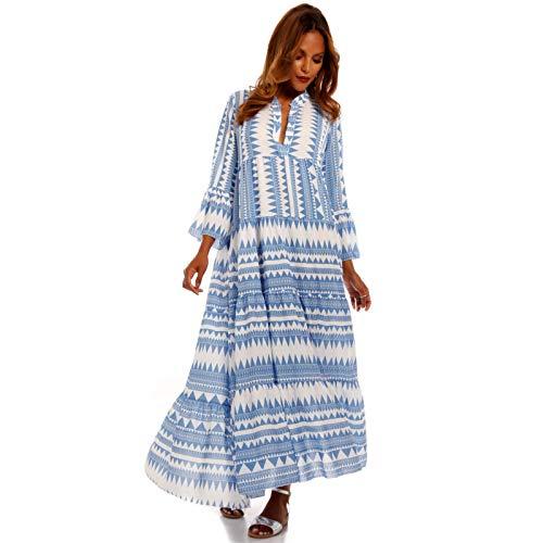 YC Fashion & Style Damen Boho Maxikleid Strandkleid Bodenlang Freizeit Sommer Party Kleid Hippie Kleid Plus Size Made in...