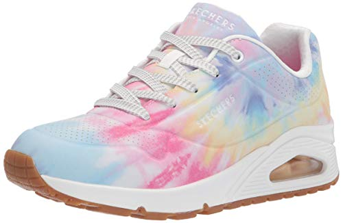Skechers Damen Skecher Street Women's UNO-Hyped Hippie Sneaker, White Mulit, 37.5 EU