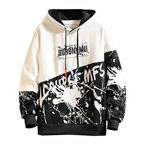 Herren Graffiti Print Pullover Herbst Winter Hoodie Mode Casual Sweatshirt College Hippie Kapuzenpullover Hip Hop...