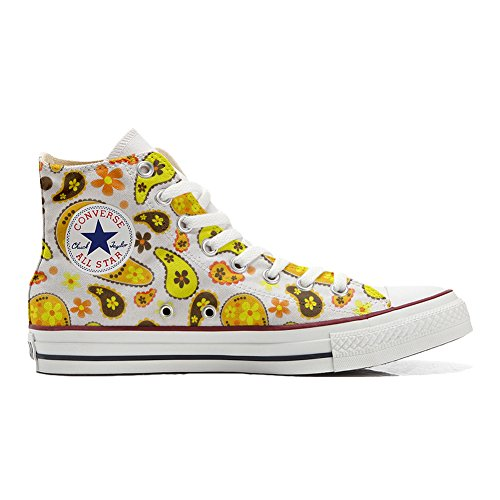 MYS Sneakers Original USA Cutomized - personalisierte Schuhe (Handwerk Produkt) - Style Vintage - Hippie Paisley Size 34...